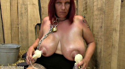 Milk, Slave, Milking, Cow, Bbw solo, Bdsm milking