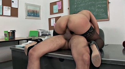 Classroom, Busty stockings