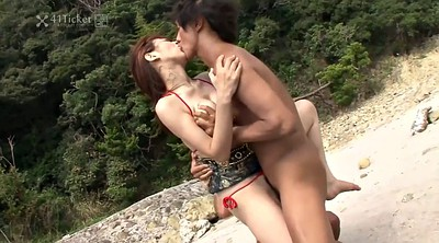 Beach, Uncensored, Japanese uncensored, Japanese public, Sex beach, Japanese creampie