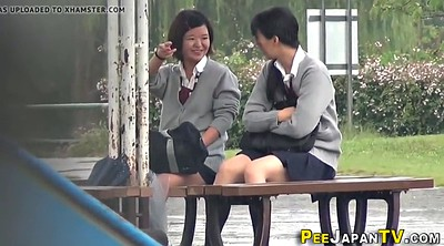 Naughty, Japanese students, Japanese student, Japanese outdoor, Hairy teens