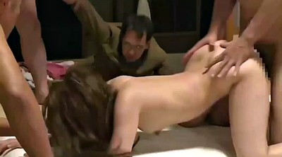 Japanese creampie, Japanese group sex, Asian group
