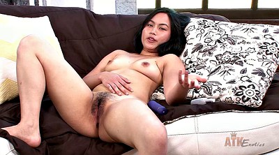 Asian solo, Hairy masturbation, Dildo hd