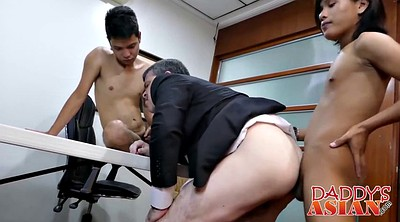 Asian daddy, Office asian