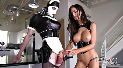 Femdom, Maid, Rubber, Cleaning, Clean, Clean up