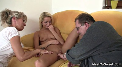 Old and young, Wife threesome, Old couple