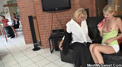 Old young sex, Mom teach
