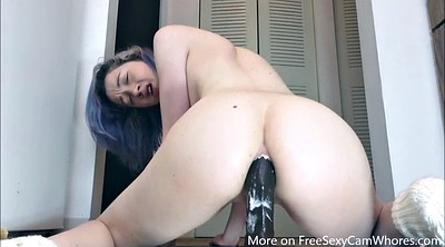 Huge dildo, Dildo riding
