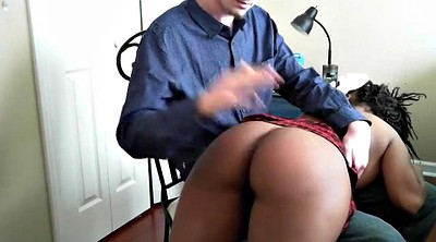 Spanked, Spank girl, Ebony spanking