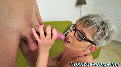 Mature blowjob, Grandma