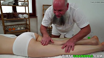 Older, Older man, Old man young, Oil massage