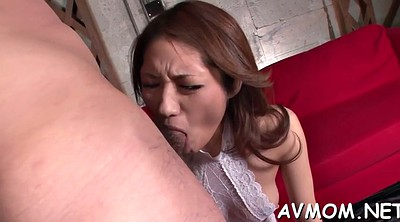 Japanese mature, Japanese milf, Asian mature, Japanese blowjob, Blindfolded, Milf cream