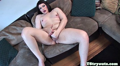 Curvy, Chubby solo, Solo shemale, Herself, Chubby casting
