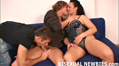 Threesome office, Gay bdsm, Femdom blowjob, Surprise threesome, Gay office