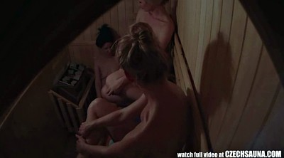 Sauna, Three, Smoking girl
