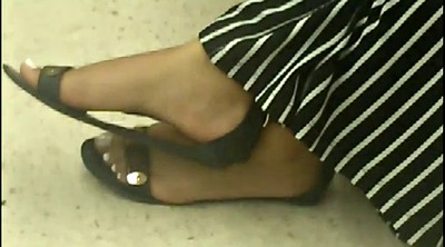 Milf feet, Candid, Ebony milf, Black feet
