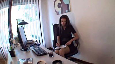 Foot, Nylon, Nylon feet, Office foot, Nylon foot, Nylon femdom