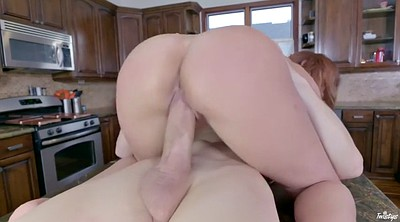 Tease, Kitchen, Riding dick, Huge dick