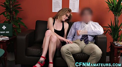 Cfnm, Upskirt, Cfnm handjob, Glasses, Cfnm blowjob