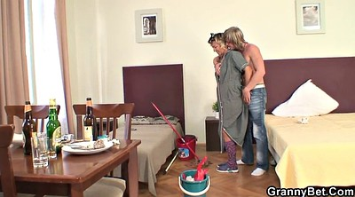 Cleaning, Milf mature, Old woman, Mature woman, Granny wife