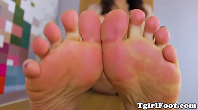 Chubby, Shemale foot, Ladyboy foot, Chubby shemale