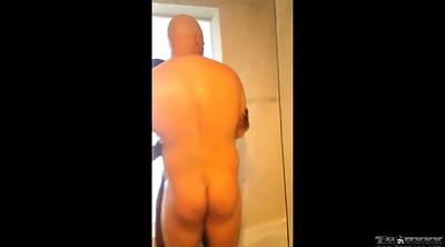 Shower, Showering, Young and old man, Old black