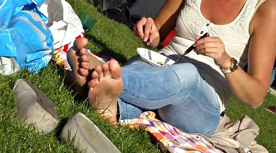 Candid, Sole, Park, Foot sole, Dirty feet