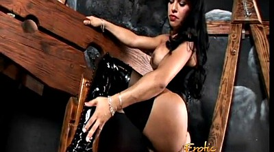 Shemale, Boots, Shemale latex, Latex shemale, Foxxy