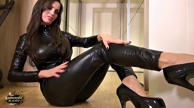 Leather, Milf feet, German amateur