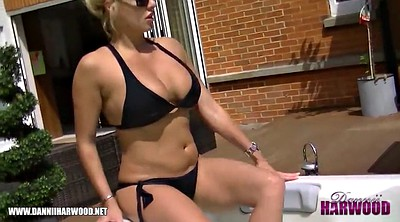 Bikini, Boob, Big ass black, Hot tub, British ebony