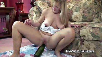 Mature, Bottle, Huge pussy, Used, Curvy mature, Chubby milf