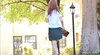 School, School teen, School uniform, Long hair play