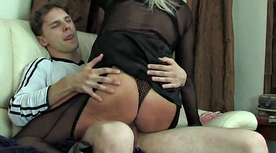 Russian mature, Young son, Watching porn, Don, Russian son