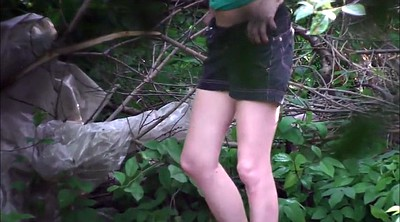 Piss, Teen piss, Forest, Pissing teen, Pee outdoor