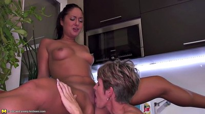 Lesbian mom, Kitchen, Mom daughter, Mom and daughter, Lesbian mature, Teen daughter