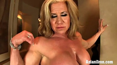 Mature solo, Solo mature, Muscle girl, Mature dildo, Mature blonde