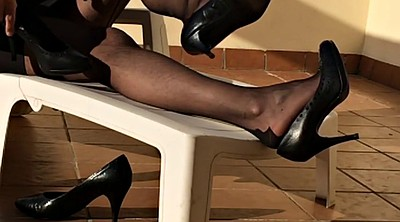 Nylon foot, Nylon fetish, Black nylon