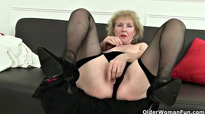Nylon granny, Mature pantyhose, British mature
