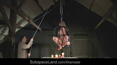 Slave, Spanking punishment, Stand, Standing, Caged, Cage