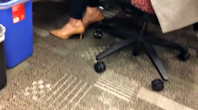 Candid, Office foot, Office feet