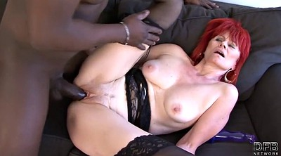 Suck and swallow, Mature interracial