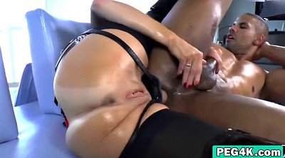 Anal interracial, Strap on