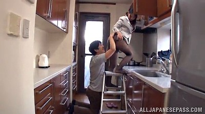 Panty, Upskirts, Kitchen, Hairy kitchen