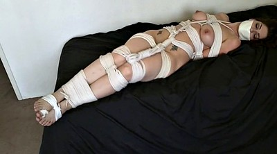 Rope, Tied up, Tied gagged, Tape bondage, Foot gagging, Foot gag