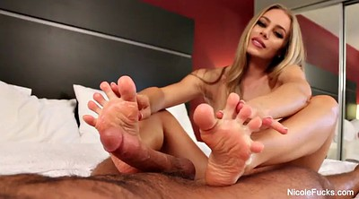 Nicole aniston, Footjob cumshot, Man