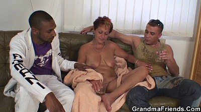 Old, Grandma, Mature threesome, Old grandma, Mature young