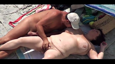Beach, Nudist, Voyeur beach couple, Old couple, Nudist beach