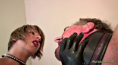 Spanked, Latex strapon, Latex fetish