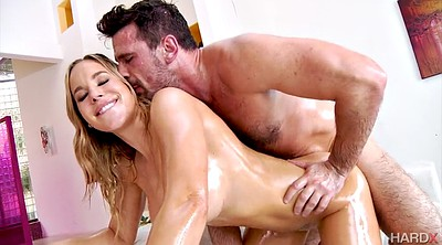Oil, Moms, Oiled, Four, Mom doggy, Blonde mom