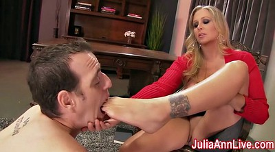 Julia ann, Boy, Foot licking, Lick foot, Foot lick, Femdom foot