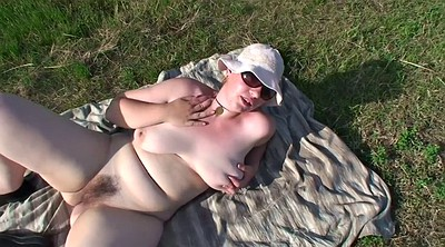 Outdoor, Hairy bbw, Horny mature